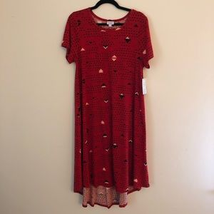 LuLaRoe Carly - Red/Black/Pink - NWT